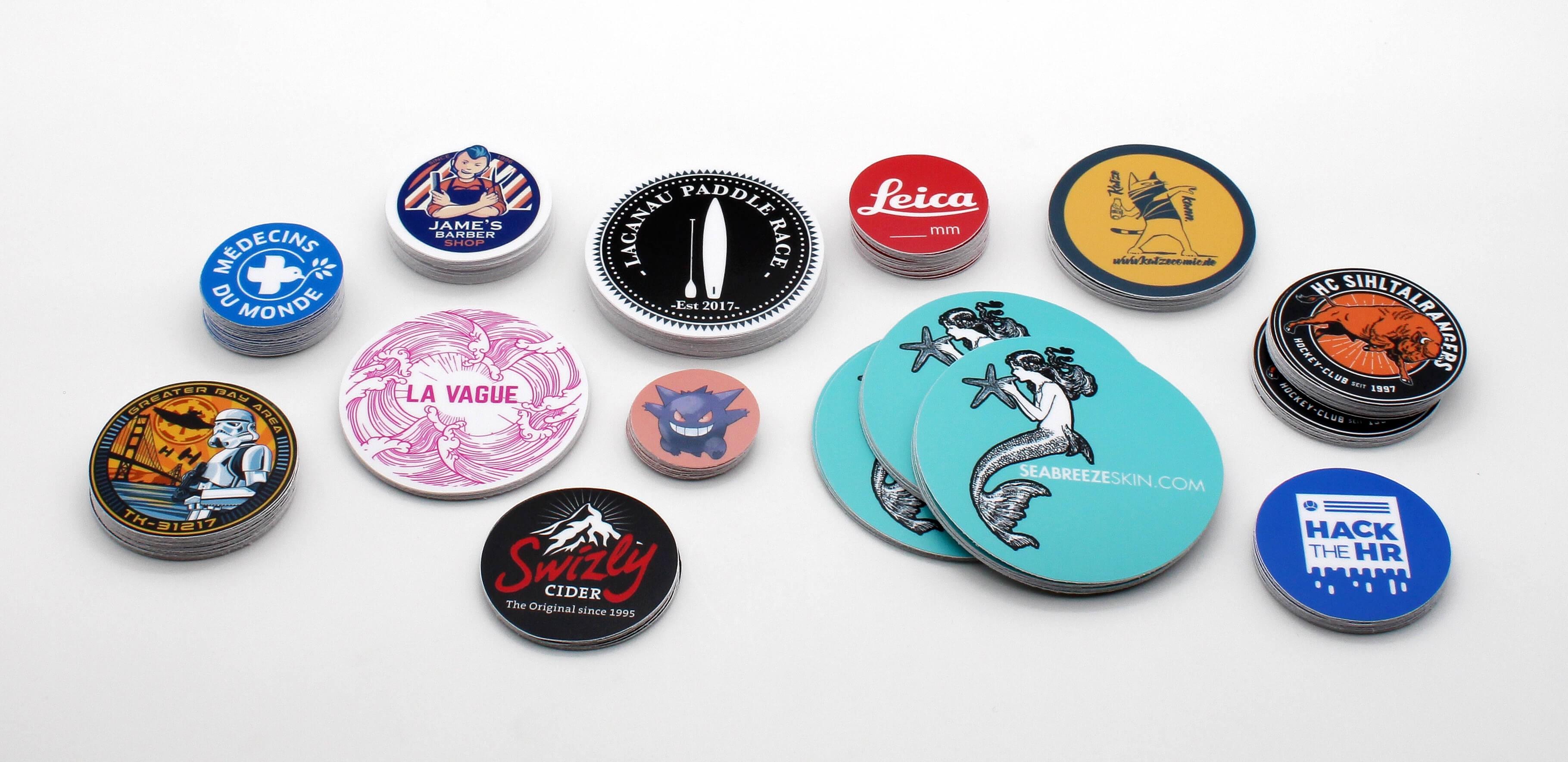 Round stickers (build it online in 2min)