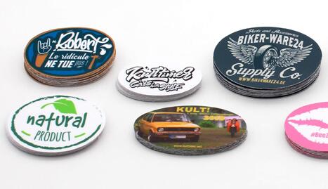 Stickeryeti: Personalized Oval Stickers and custom stickers